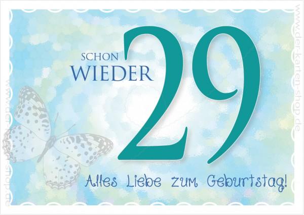 Postkarte Spruchkarte Geburtstagskarte 'Schon wieder 29. Alles Liebe zum Geburtstag'