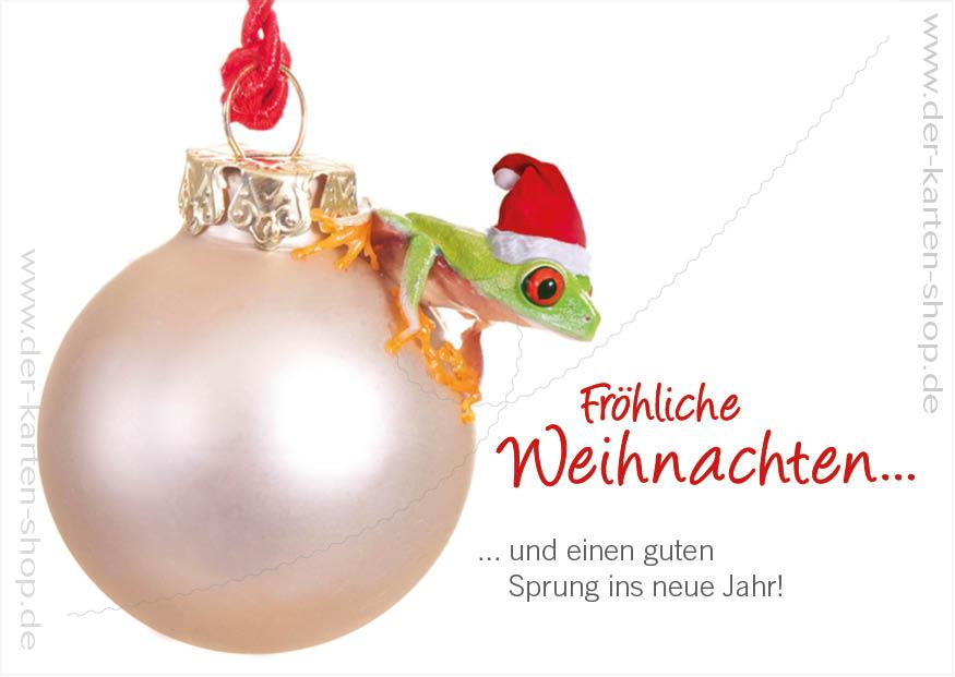 postkarte weihnachtskarte rotaugenlaubfrosch 39 fr hliche. Black Bedroom Furniture Sets. Home Design Ideas