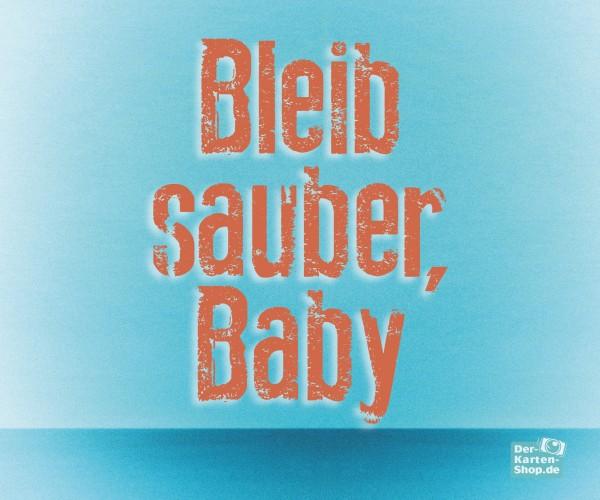 Brillenputztuch witziger Spruch 'Bleib sauber, Baby'