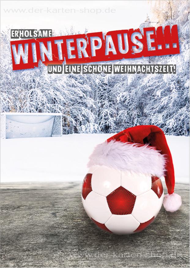 postkarte weihnachtskarte fu ball 39 erholsame winterpause. Black Bedroom Furniture Sets. Home Design Ideas