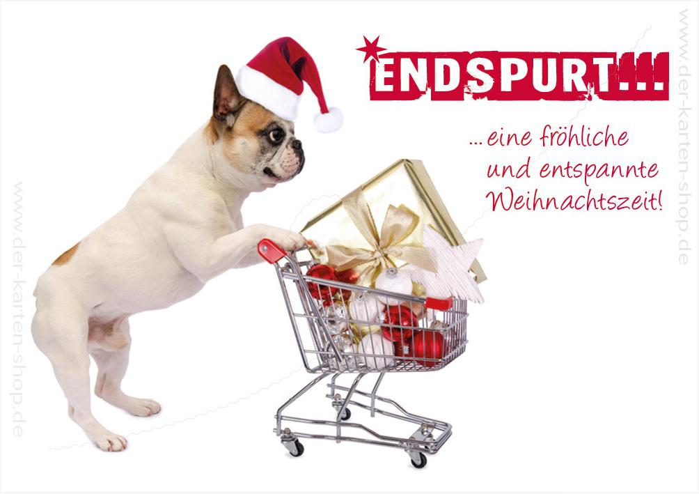 doppelkarte weihnachtskarte kleine bulldogge mit. Black Bedroom Furniture Sets. Home Design Ideas