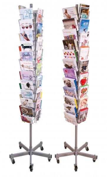 Bodendrehständer 'Slim Line' Doppelkarten und Postkarten