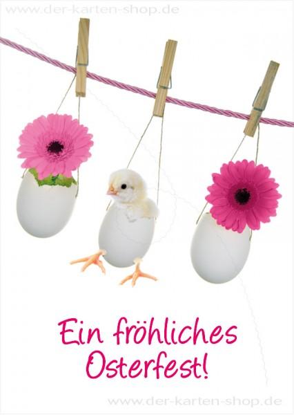Postkarte Grußkarte Osterkarte süßes Kaninchen 'Frohe Ostern'-Copy