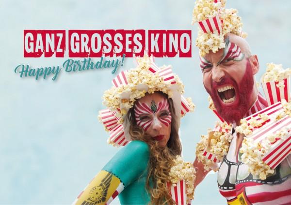 Doppelkarte Geburtstagskarte 'Ganz großes Kino. Happy Birthday'