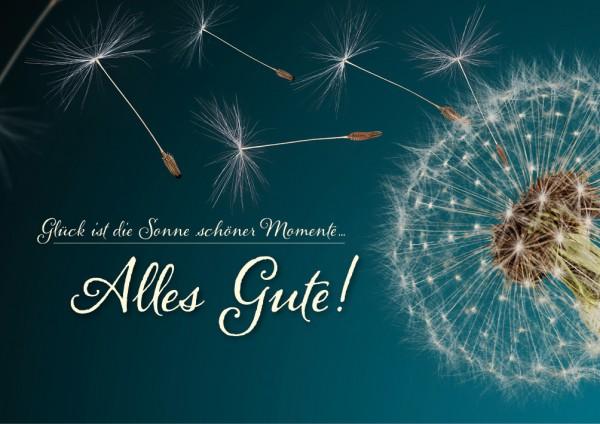 Doppelkarte Geburtstagskarte Geburtstag Pusteblume 'Alles Gute!'