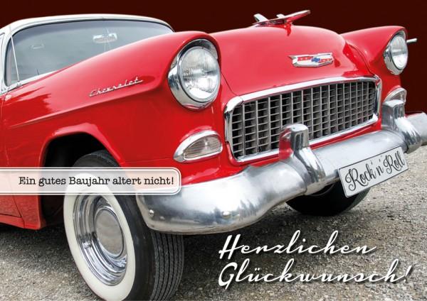 Doppelkarte Geburtstagskarte Oldtimer Chevrolet 'Herzlichen Glückwunsch!'