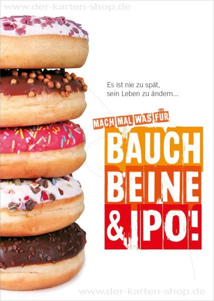 Postkarte Grußkarte Motivationskarte Diät 'Mach mal was für Bauch, Beine, Po'