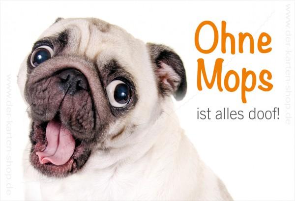 Magnet Kühlschrankmagnet süßer Mops 'Ohne Mops ist alles doof!'