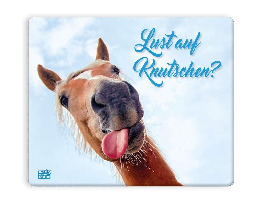 Mauspad Mousepad witziges Pferd mit Zunge Lust auf