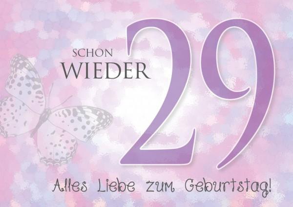 "Doppelkarte Geburtstagskarte Glückwunschkarte ""Schon wieder 29!"""