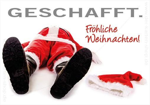 Magnet Kühlschrankmagnet Weihnachten Nikolaus 'Geschafft!'