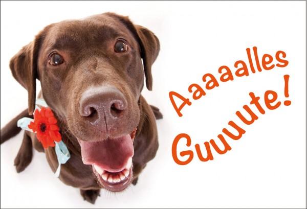 Magnet Kühlschrankmagnet Geburtstag Labrador Hund 'Alles Gute'