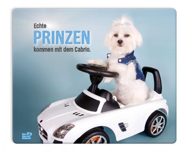 Mauspad Mousepad Malteser Hund 'Echte Prinzen kommen mit dem Cabrio'